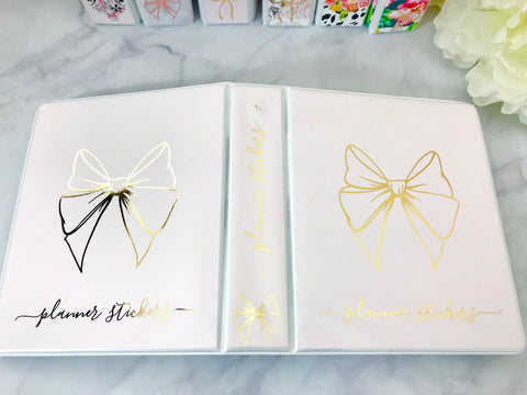 Blush with Gold Foil Bow Sticker Album Cover Kit SA003 - Planner Press