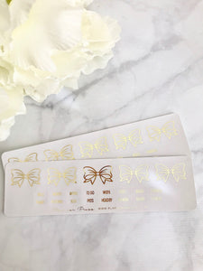 Neutral Grey and Gold Bow Divider Tabs Modular System Labels B-005 - Planner Press