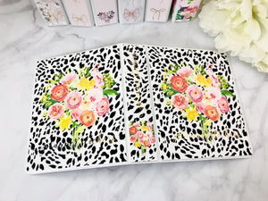 Wild Bouquet with Gold Foil Planner Sticker Album Cover Kit SA004 - Planner Press