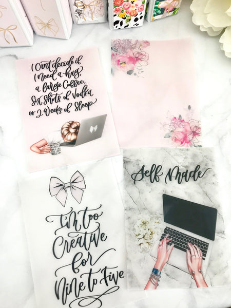 Boss Girl Collab with Calligraphy By Lindsey Dashboards For TN's and  Travelers Notebook Ringbound Planners - Planner Press