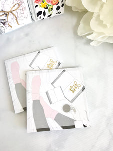 Planning In Bed Gold Foiled Sticky Note Pad 30 Pages - Planner Press