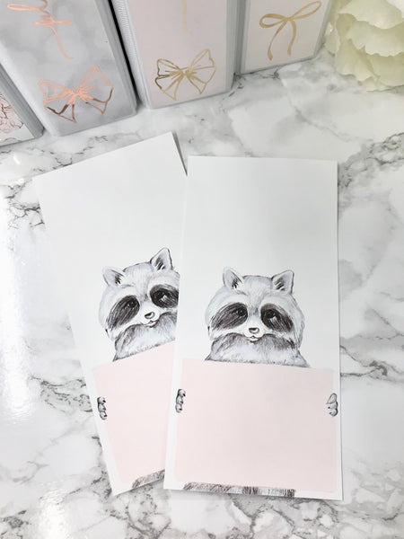 Raccoon Holding Sign Half Hobonichi Weeks Full Page 2314 - Planner Press