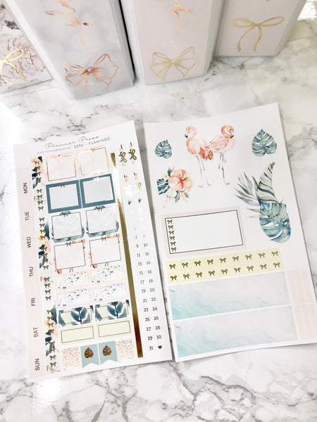 Flamingo Hobonichi Weeks Sticker Kit with Gold Foil 2296 - Planner Press