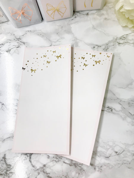 Bow Glitter Gold Foil Hobonichi Weeks Full Page 2304 - Planner Press