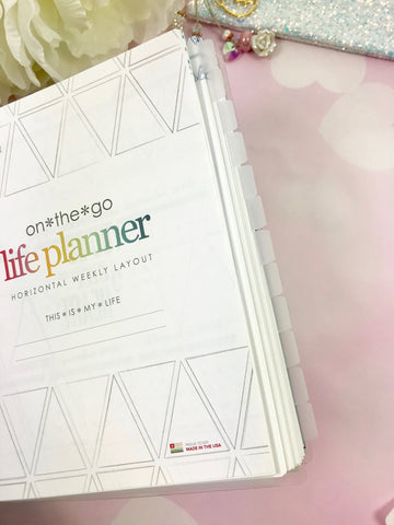 EC Monthly Frosted Plastic Dividers for the Life Planner ECLP - Planner Press