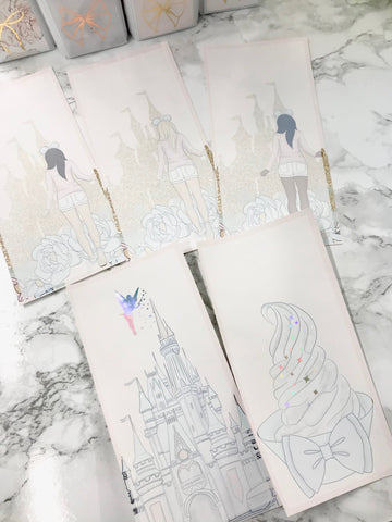 Full Box Friday Disney Bundle!! 3 Sheet Hobonichi Background Set! - Planner Press