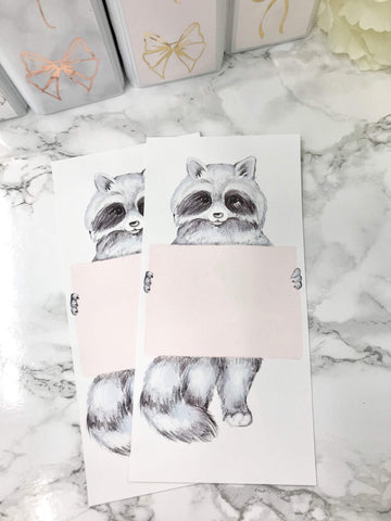Raccoon Sign Holding Hobonichi Weeks Full Page 2312 - Planner Press