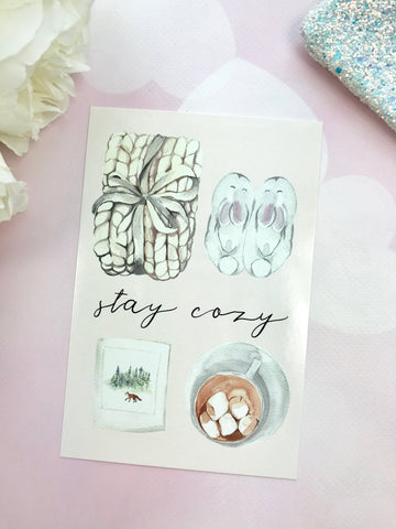 Stay Cozy Fall Autumn Planner Card - Planner Press