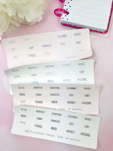 Solid Background Simple & Clean Foiled Divider Tabs Modular System Labels T-1505 - Planner Press
