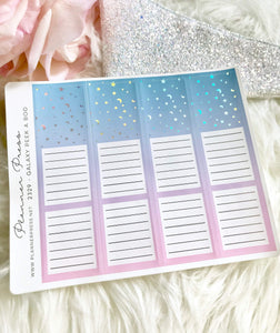 Galaxy Foiled Peek A Boo Sticker For Planners 2329 - Planner Press