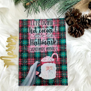 Plaid Hot Cocoa And Christmas Movies Vellum Planner Dashboards For TN's and Midori Travelers Notebook Pick Your Girl! V217
