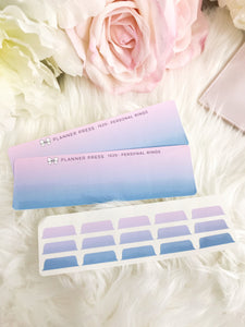 Galaxy Blank Sticker Tabs for Divider Tabs Modular System Labels T-1520 - Planner Press