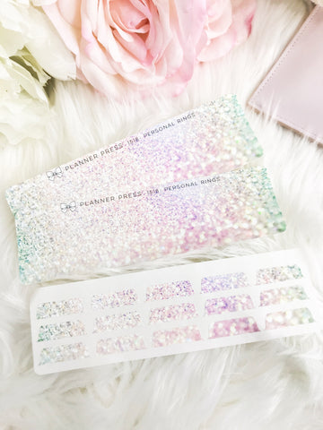 Princess Glitter Blank Sticker Tabs for Divider Tabs Modular System Labels T-1518 - Planner Press
