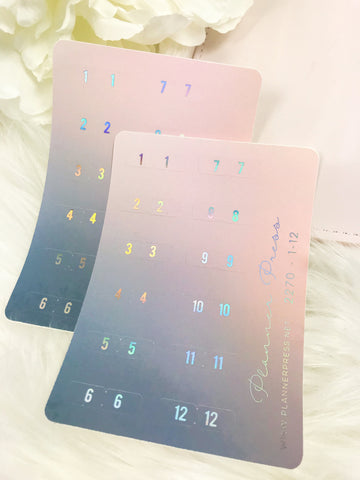 Galaxy Monthly Numbered WIth Holo Foil Tabs 2270 - Planner Press