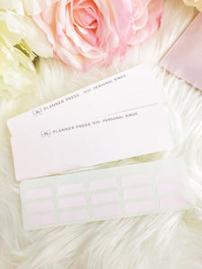 Solid Blush Pink Blank Sticker Tabs for Divider Tabs Modular System Labels T-1517