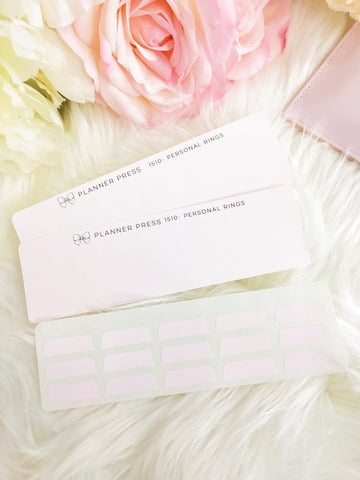 Solid Blush Pink Blank Sticker Tabs for Divider Tabs Modular System Labels T-1517 - Planner Press
