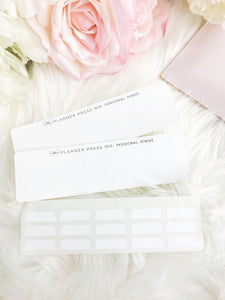 Solid White Blank Sticker Tabs for Divider Tabs Modular System Labels T-1510 - Planner Press