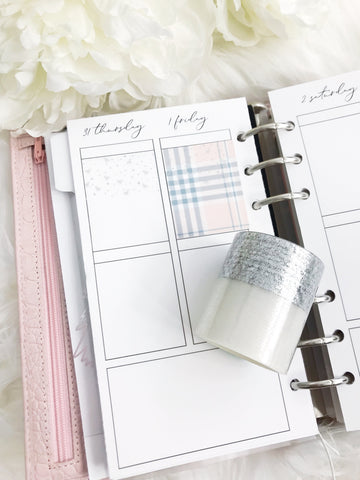 Clear Overlay Silver Foiled Bow Washi Tape