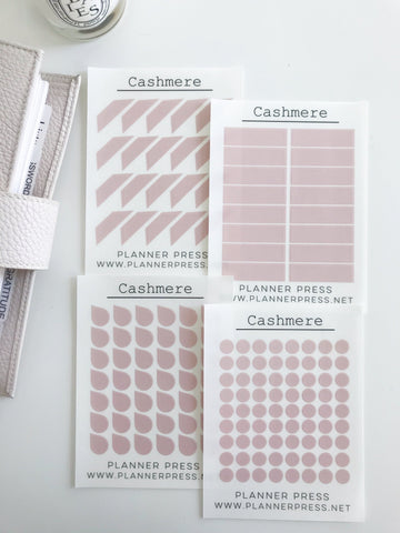 Cashmere Transparent Matte Stickers- Dots, Tear Drops, Highlighter and Corner Flag 2347 - Planner Press