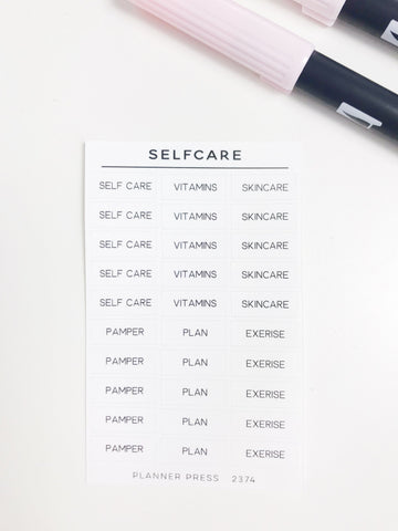 Self Care Task Stickers 2374 - Planner Press