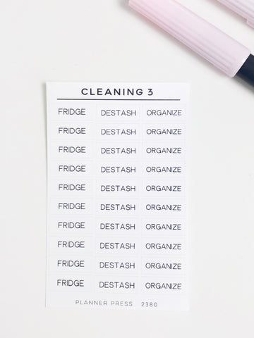 Cleaning 3 Task Stickers 2380 - Planner Press