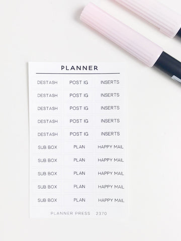 Planner Girl Task Stickers 2370 - Planner Press