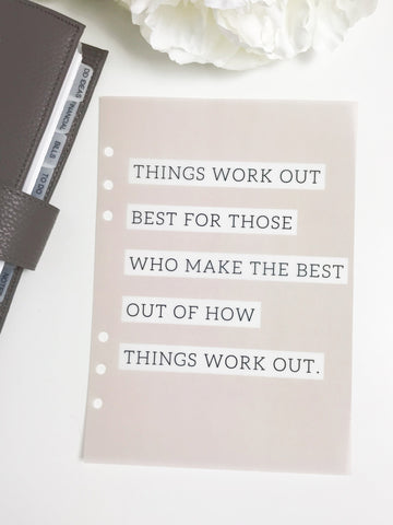 Things Workout Inspirational  Planner Dashboards For TN's and Travelers Notebook Ringbound Planner V266 - Planner Press