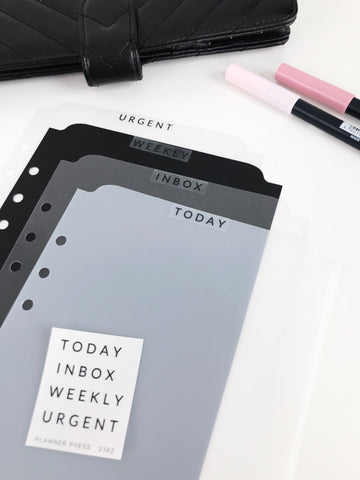 Today Page Marker for Ringbound Planners in Clear, Frosted, Diamond, Crystal Clear and Matte Black - Planner Press