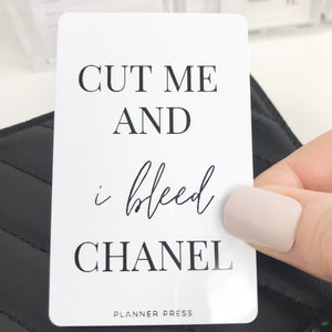 I Bleed Chanel Pocket Card PC0021 - Planner Press