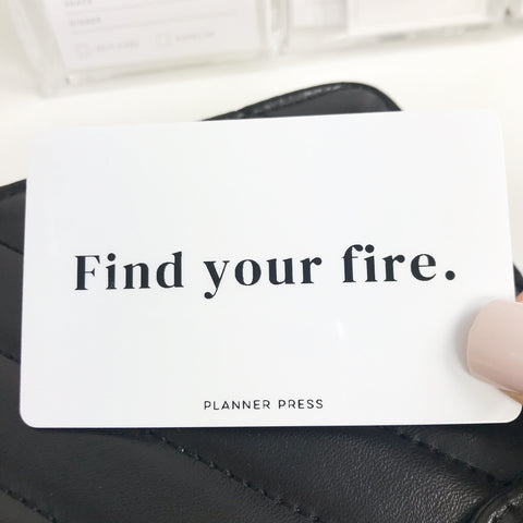 Find Your Fire Pocket Card PC0029 - Planner Press