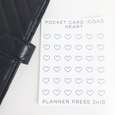 Heart Icons Sticker Set for PocketCards 2410 - Planner Press