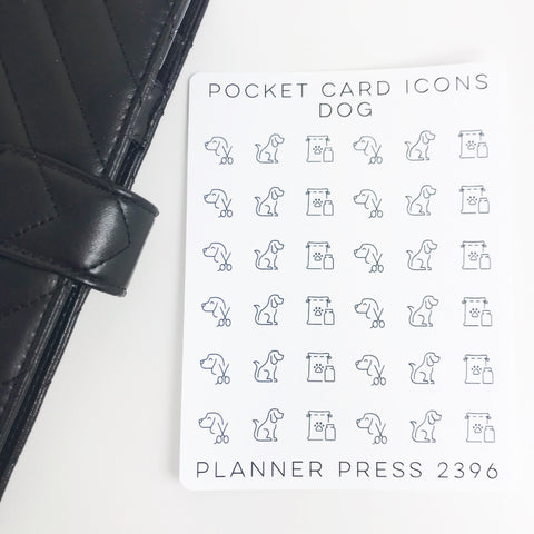 Dog Icons Sticker Set for PocketCards 2396 - Planner Press