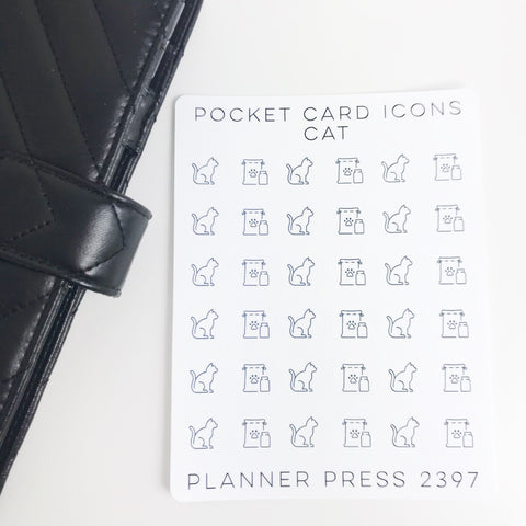 Cat Icons Sticker Set for PocketCards 2397 - Planner Press
