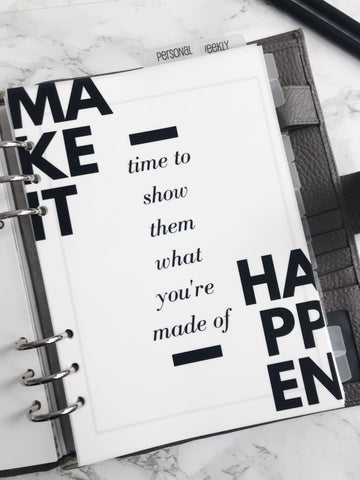 Make It Happen Planner Dashboards For TN's and Travelers Notebook Ringbound Planner V235 - Planner Press