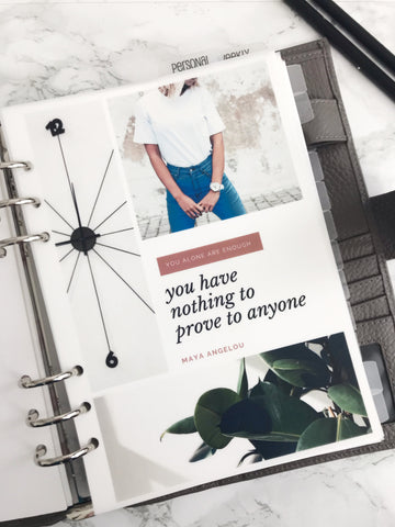 You Alone Are Enough Planner Dashboards For TN's and Travelers Notebook Ringbound Planner V234 - Planner Press