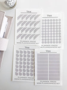 Vex Transparent Matte Stickers- Dots, Tear Drops, Highlighter and Corner Flag 2361 - Planner Press