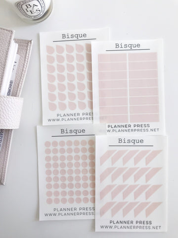 Bisque Transparent Matte Stickers- Dots, Tear Drops, Highlighter and Corner Flag 2350 - Planner Press