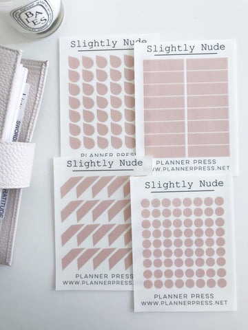 Slightly Nude Transparent Matte Stickers- Dots, Tear Drops, Highlighter and Corner Flag 2351 - Planner Press