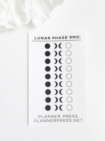 Micro Lunar Phases 9 Month Planner Stickers 2366 - Planner Press