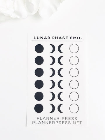 Lunar Phases 6 Month Planner Stickers 2365 - Planner Press