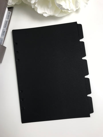 Matte Black Side Tab Dividers - Planner Press