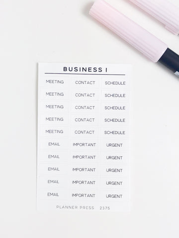Business 1 Task Stickers 2375 - Planner Press