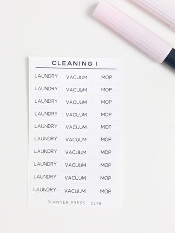 Cleaning 1 Task Stickers 2378 - Planner Press