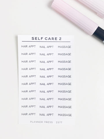 Self Care 2 Task Stickers 2377 - Planner Press