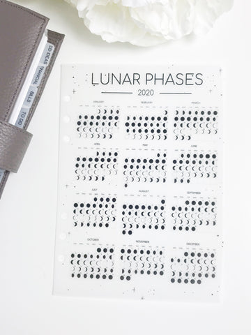 Lunar Phases Moon Planner Dashboards For TN's and Travelers Notebook Ringbound Planner V252 - Planner Press