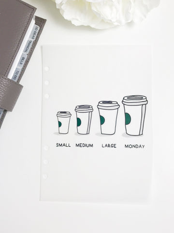 Monday Coffee Planner Dashboards For TN's and Travelers Notebook Ringbound Planner V264 - Planner Press