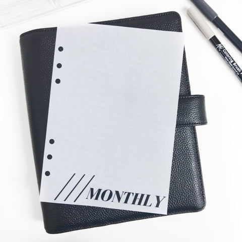 Monthly Planner Dashboards For TN's and Travelers Notebook Ringbound Planner V277 - Planner Press