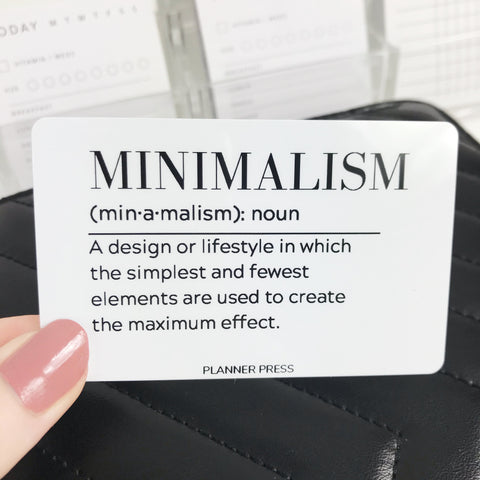 Minimalism Definition Pocket Card - Planner Press