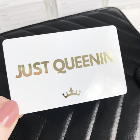 Just Queenin Gold Foil Pocket Card - Planner Press