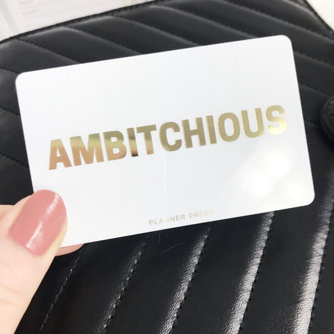 Ambitchious Gold Foil Pocket Card - Planner Press